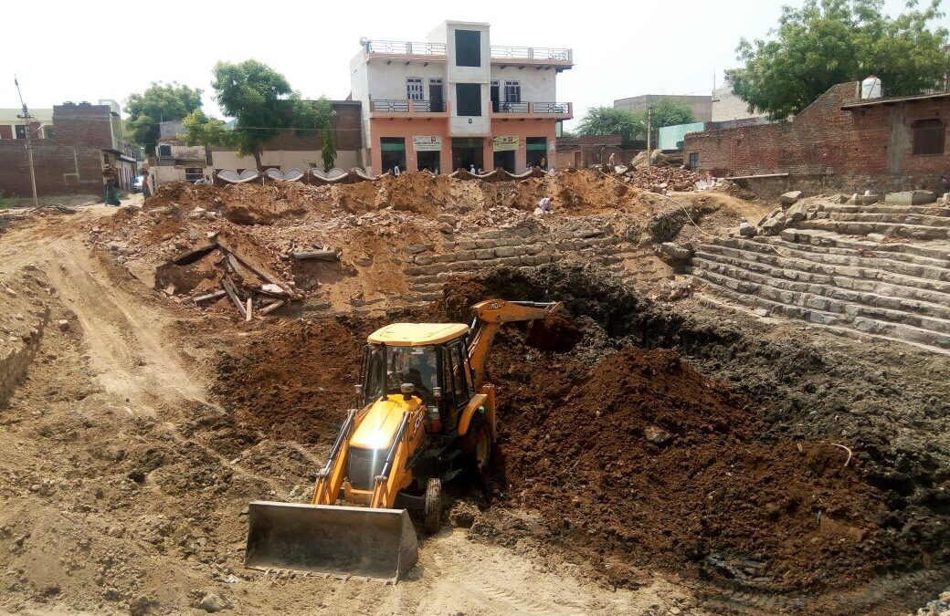 Surya or Sooraj Kund Renovation Begins in Kaman
